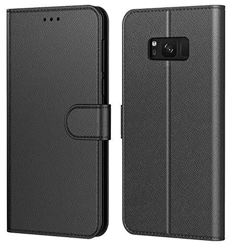 Tenphone Etui Coque pour Samsung Galaxy S8, Protection Housse en Cuir PU Portefeuille,[Emplacements...