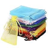 Wanap Bolsas Bolsitas de Organza, 120pcs 10x15cm Wedding Favor Bags Bolsas de...