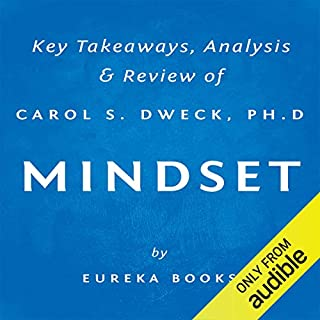 Mindset: The New Psychology of Success by Carol S. Dweck, PhD     Key Takeaways, Analysis & Review              By:                                                                                                                                 Eureka Books                               Narrated by:                                                                                                                                 Michael Pauley                      Length: 27 mins     125 ratings     Overall 3.9