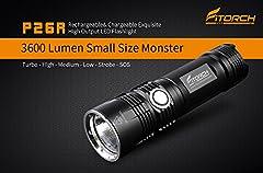 3600 Max Lumens 265 meter max throw Mode memory function Emergency powerbank function Lockout mode