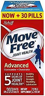 Schiff Move free旭福维骨力氨糖软骨素片红瓶基础版 200粒∕瓶 * 4瓶 (美国顺丰包税直邮)