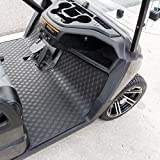 Xtreme Mats Yamaha Drive2 Full Coverage Golf Cart Floor Liner Mat W/Color Options- Fits Yamaha Drive2 Model Only 2017+, UMAX Rally All Black