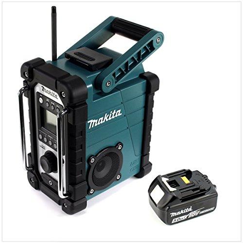 Makita DMR 1077,2–18V batteria cantieri Radio + 1X BL 185018V–5AH batteria–Senza Caricatore