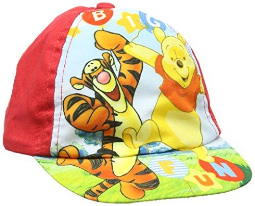 Winnie Pooh Cap, Sonnenhut, Mütze (50, Rot)