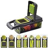 SUPERHUA Food Shredder, 7 in 1 Food Gemüsesalat Obstschäler Gemüseschredder Zwiebelschredder, Küchenschredder, Obst- Und Käseschredder
