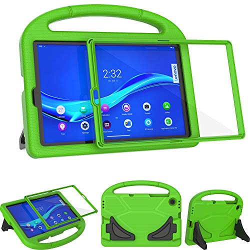 TeeFity Kids Case for Lenovo Tab M10 FHD Plus 10.3 inch Case, Shockproof Lenovo Tab M10 Plus 10.3 Kids Case with Built in Screen Protector for Lenovo Tab M10 Plus 10.3 2020 Tablet, Green