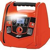 Formula 1 Tragbare 12V Energiestation Auto Starthilfe, Powerstation mit Luftkompressor, 220-230V Spannungsumwandler, Steckdose, USB