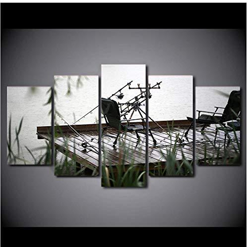 Modernos Naturales metacrilato Silla de pesca fotografías certificados Collage Tableros Requiere Ensamblaje SLF-238