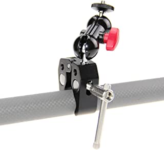 CAMVATE Pole Clamp Mount with Super Clamp and 360 degree Rotating Mini Ball Head for mini 78 Monitor