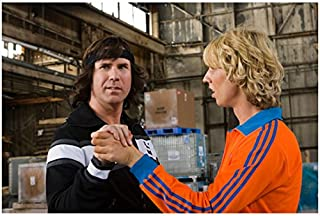 Blades of Glory 8 inch x 10 inch PHOTOGRAPH Jon Heder & Will Farrell Practicing Dance Steps in Warehouse kn