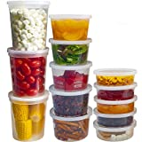 DuraHome Food Storage Containers with Lids 8oz, 16oz, 32oz Freezer Deli Cups Combo Pack, 44 Sets...