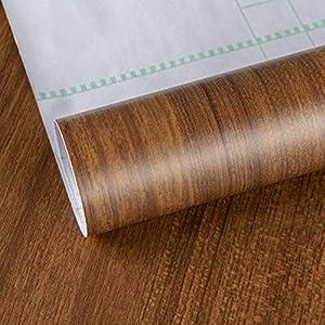 Adhesivo de papel pintado de grano de madera marrón, papel de contacto de nogal, adhesivo decorativo para muebles, autoadhesivo película de vinilo,parte posterior adhesiva papel de plástico