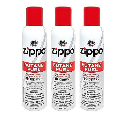 Zippo Butane, 5.82 oz, Pack of 3