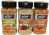Weber 3 Pack Seasonings Bundle (7.75 oz Roasted Garlic & Herb, 8.5 oz Steak & Chop, & 8 oz Gourmet...