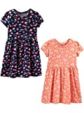 Simple Joys by Carter's Girls' Toddler 2-Pack Short-Sleeve and Sleeveless Dress Sets, Floral/Butterfly, 3T