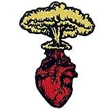 Parche termoadhesivo para la ropa, diseño de Explosión de auge Seta Nube Corazón