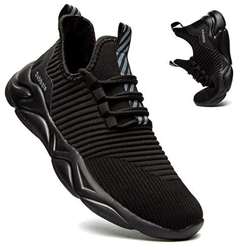 Dabbqis Tenis de correr para hombre, transpirables, ligeros, para tenis, caminar, para hombre, Negro, 10
