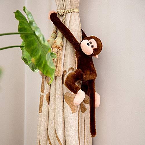 GBYGDQ Los Niños Suaves Juguetes De Peluche Lindo Regalo Colorido Brazo Largo del Mono del Animal Relleno De La Muñeca Deep Brown