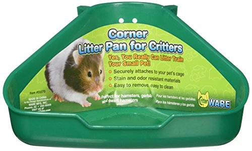 Ware Manufacturing Corner Litter Pan for Critters, Assorted Colors, 6.5' X...