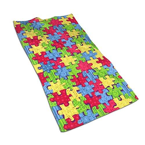 DAWN&ROSE Autisme Bewustzijn Keuken Handdoek, 27.5X 15.7 Inch, Ultrafine Fiber, Zeer absorberend, Multipurpose