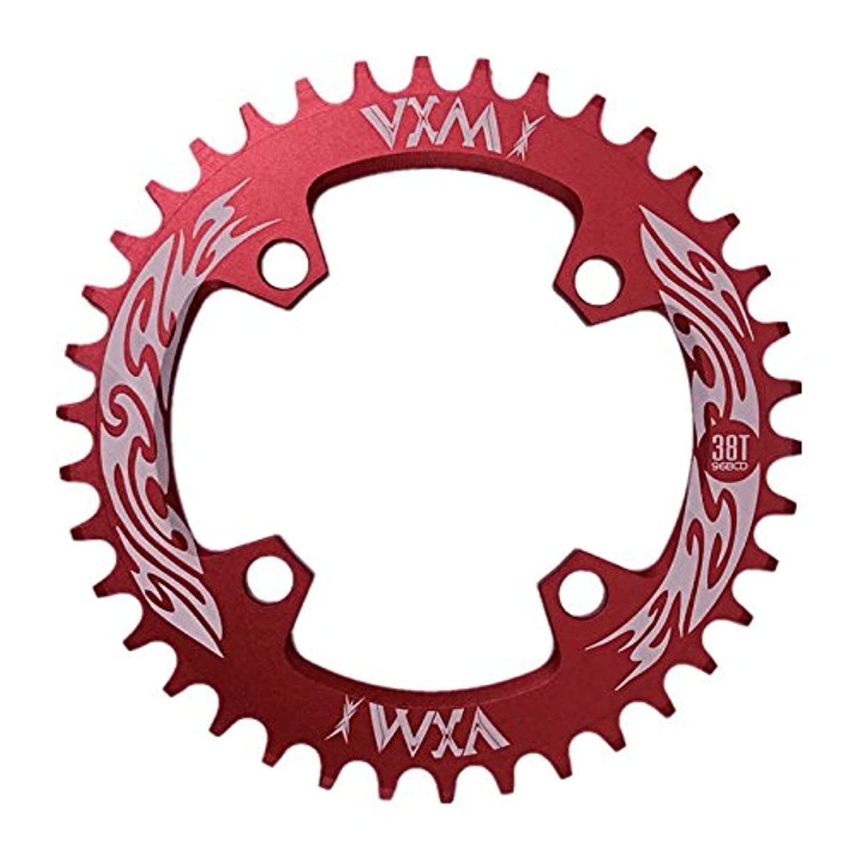 そして梨対応Propenary - Bicycle Crank & Chainwheel 96BCD 38T Ultralight Alloy Bike Bicycle Narrow Wide Chainring Round Chainwheel Cycle Crankset [ Red ]