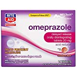 Rite Aid Omeprazole, Orally Disintegrating Tablets, Strawberry Flavor, 20mg - 14 Count   Heartburn Relief   Acid Reducer