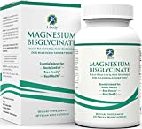 Magnesium Bisglycinate Chelate - Reduce Muscle Cramps and Improve Sleep - Maximum Absorption with no Laxative Effects - 100% Chelated - 44 mg of Pure Magnesium Bisglycinate Per Capsule