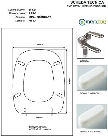 Copriwater Ideal Standard Aero Nero Cerniera Cromo Sedile Asse Wc Amazon It Fai Da Te