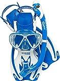 Cressi Rocks Pro Dry Set Gafas, Snorkel y Aletas Niños, Unisex-Youth,...
