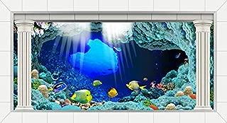 VIP.LINE Seabed Wreck Aquarium Background Poster HD Fish Tank Decorations Landscape Backdrop