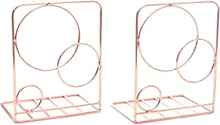 Agirlgle Bookends Metal Book Ends Heavy Duty Modern Decorative Bookend Bookshelf Decor for Bedroom Library Office School B...