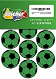 28 pegatinas de fútbol de 50 mm, color verde/negro, de PVC, con impresión autoadhesiva, EM, WM, Bundesliga