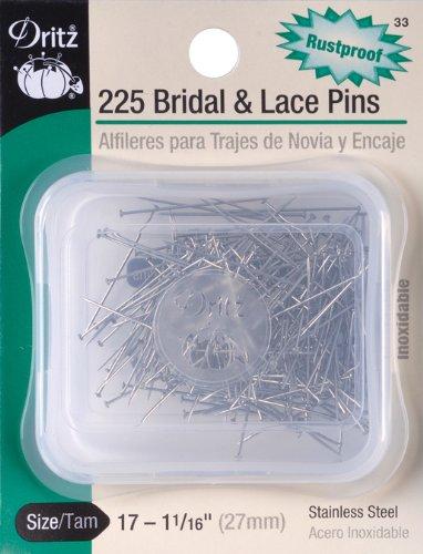 Dritz 33 Pines de Novia y Encaje, 1-1/16 Pulgadas (225 Unidades)