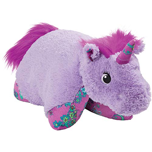 "Pillow Pets Colorful Lavender Unicorn, 18"" Stuffed Animal Plush Toy"