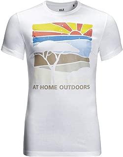 Jack Wolfskin Mens Savannah T-Shirt - White Rush - M