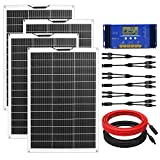 ECO-WORTHY 520W Flexible Solar Panel Kit for RV with 4pcs 130W Solar Panel and 60A Charge Controller...