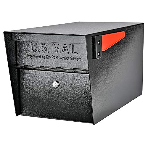 Mail Boss 7506 Mail Manager Curbside Locking Security Mailbox, Black