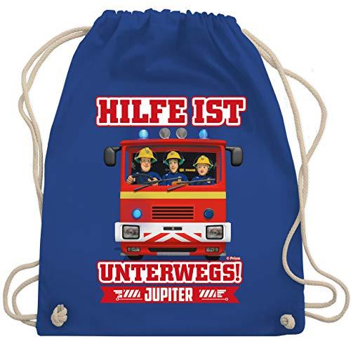 Shirtracer Feuerwehrmann Sam Tasche - Hilfe ist Unterwegs - Sam & Jupiter - Unisize - Royalblau - Hilfe ist unterwegs - WM110 - Turnbeutel und Stoffbeutel aus Baumwolle