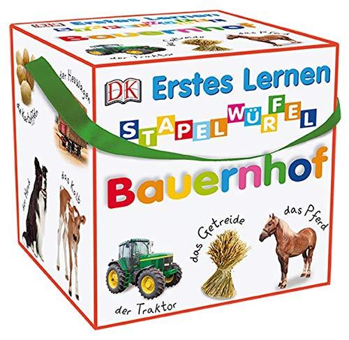 Erstes Lernen Stapelwürfel. Bauernhof: 10 stabile Karton-Würfel mit tollen Fotos zum Spielen, Entdecken und Benennen