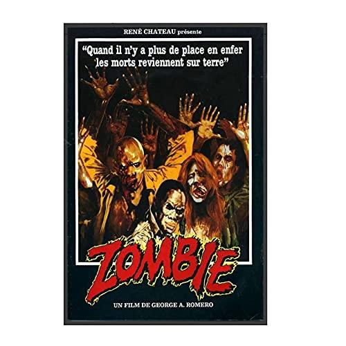 QQWER El amanecer de los muertos película George Romero Zombie Canvastavlor Och Tryck Arte de la pared Imágenes 50X70Cmx1St - Ingen Ram