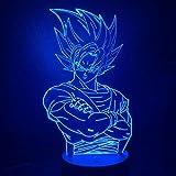 Lámpara De Ilusión 3D Luz De Noche Led Cool Kids Dragon Ball Z Goku Figura Luz Para Decoración De Do...