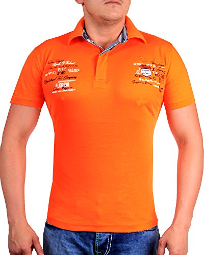 Herren T-Shirt Slim Fit 2597 (XL-Slim, Orange 2051)