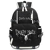 Siawasey Death Note Anime Cosplay Luminoso Librero Mochila Bolsa de Hombro Bolsa de Escuela