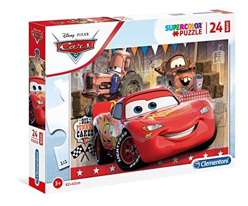 Clementoni - 24203 - Supercolor Puzzle - Disney Pixar Cars - 24 Maxi Pezzi - Made In Italy - Puzzle Bambini 3 Anni +