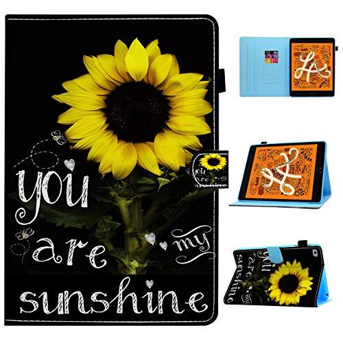 iPad Mini 5 Case,iPad Mini 4/3/2/1 Case,You are My Sunshine Sunflower Pattern Wallet PU Leather Stand Folio Slim Smart with Auto Sleep/Wake Case Cover for Apple iPad Mini 5(2019),iPad Mini 4/3/2/1
