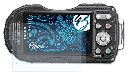 Bruni Película Protectora para Ricoh WG-4 GPS Protector Película, Claro Lámina Protectora (2X)