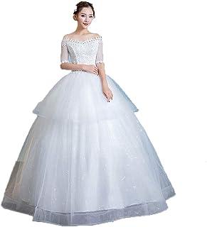 4dd0f7ad4df7 Vestito da sposa Abito da sera da donna corto con spalline in pizzo  floreale Abito da