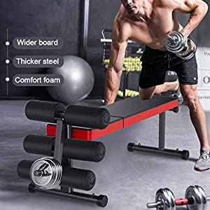 Adjustable Weight Benches – Utility Exercise Workout Weight Benches for Home Gym Weight Lifting and Strength Training, Supports 660 lbs