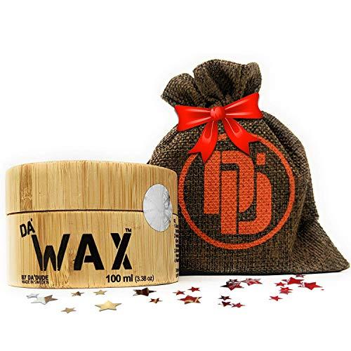 Da'Dude Da' Wax Cera per Capelli Uomo Extra Forte - Finitura opaca e lunga durata - In una scatola di legno di alta qualità e confezione regalo - 100 ml