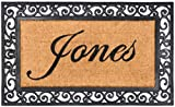 Nance Industries YourOwn Custom Name Monogrammed Rubber Welcome Mat, 24' x 39'